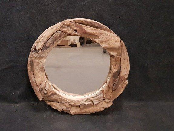 Spiegel, rustiek rond 80cm