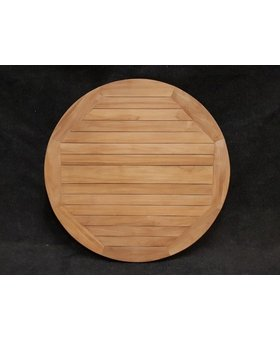 Teak tafelblad Toscane Ø100x3cm