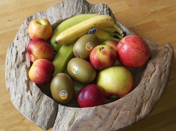 Houten fruitschaal 60cm