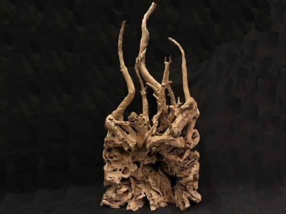 Hout sculptuur B125xH240xD60 KJ1851-01