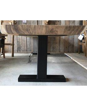 Metalen I poot voor bartafel - zwart - per set