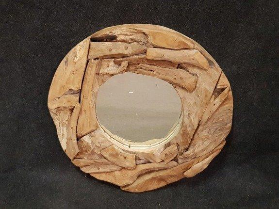 Spiegel, rustiek rond 60cm