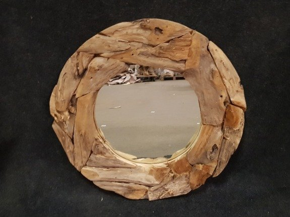 Spiegel, rustiek rond 70cm