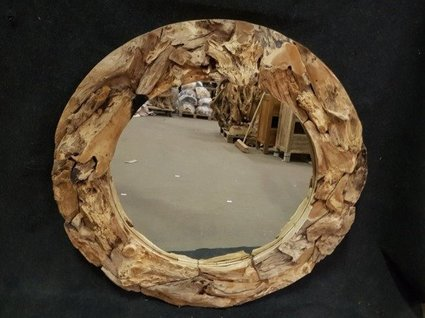 Spiegel, rustiek rond 120cm