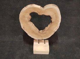 Sculptuur hart op standaard +/- 35/45cm