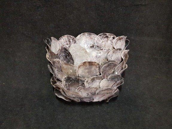 Oesterschelp wandlamp 45x33x25cm