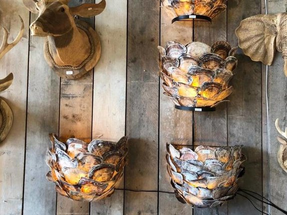 Oesterschelp wandlamp 45x38x25cm  AS1870-01