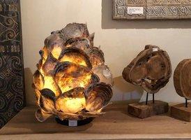 Oesterschelp lamp 50x40cm  AS1870-09