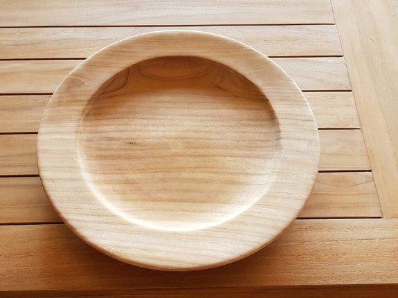 Houten bord onderzetter 30cm