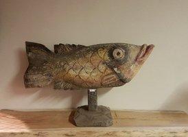 Houten vis met kleuren - middel RA04-1919