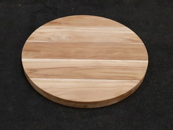 Teak tafelblad rond 80cm - Napoli