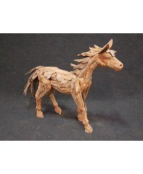 Houten Paard staand - klein L130cm