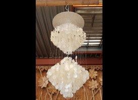 Schelpenlamp 2 ruiten - 50x135cm - Elisa 08