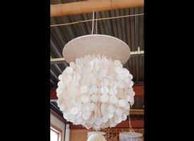 Schelpenlamp 1 rond - 60x75cm - Elisa 06