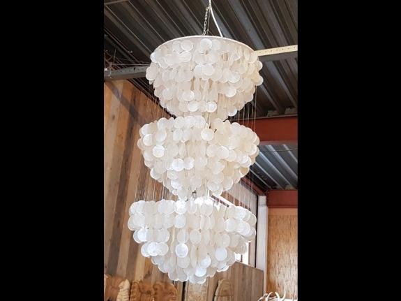 Schelpenlamp 3 half rond - 50x100cm - Elisa 09