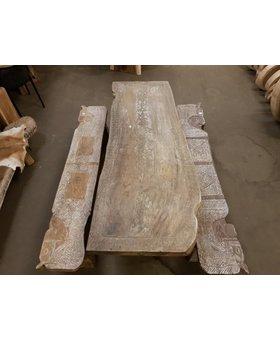 Tafel met houtsnijwerk 75x200cm - SK12-1920