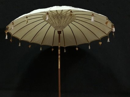 Parasol Ibiza stijl Ø 2,5m - naturel