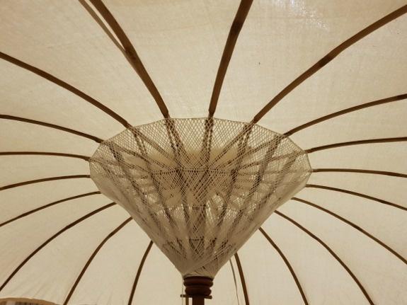 Parasol Ibiza stijl Ø 2m - naturel