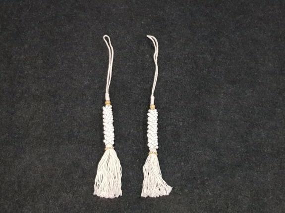 Schelpen met kwast - wit - 75cm AS1951-H