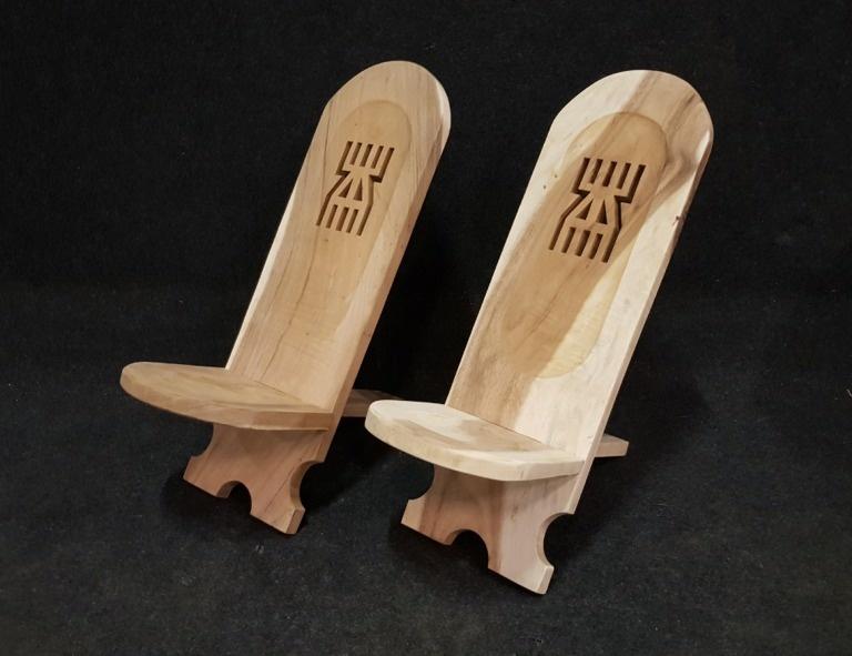 2 delige loungestoel - Afrikaanse stoelen