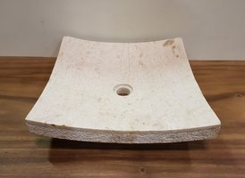 Wasbak Marmer wit vierkant 45x45x12cm