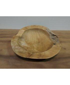 Houten fruitschaal 30cm