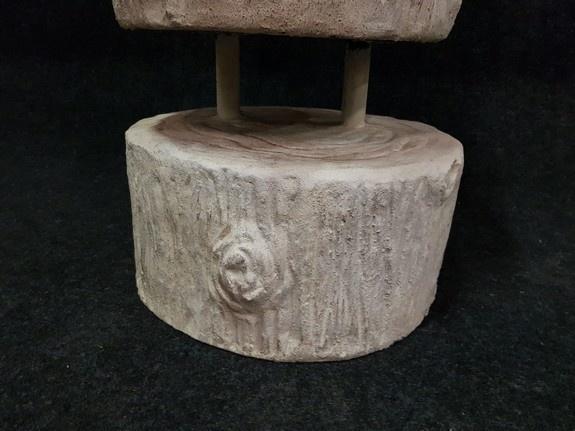 Stenen Boeddha zittend - 60x60x120cm wit