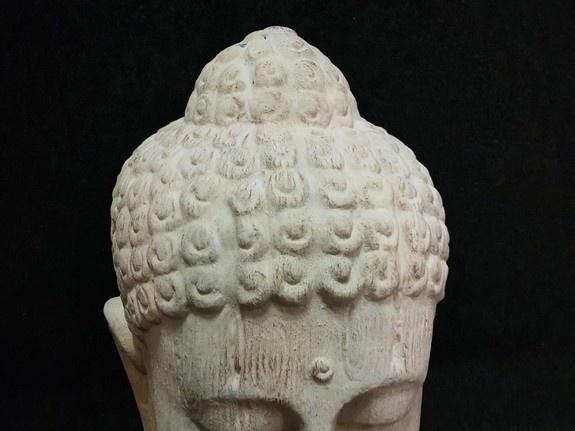 Boeddha - 60x60x120cm wit - XXL