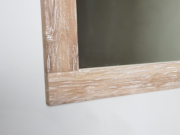 Spiegel 70x100x9cm White Wash - Teak