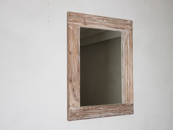 Spiegel 60x80x9cm White Wash - Teak