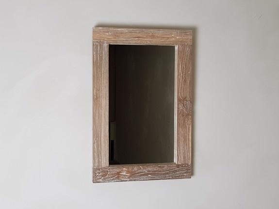 Spiegel 40x60x6cm White Wash - Teak
