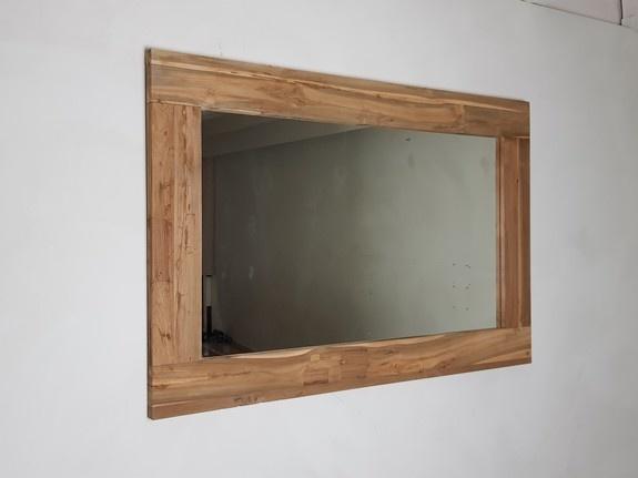 Spiegel 128x85x12cm Naturel - Teak