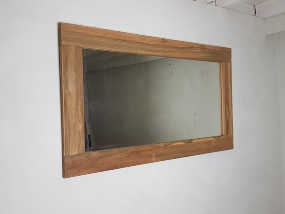 Spiegel 148x85x12cm Naturel - Teak