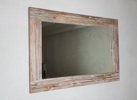 Spiegel 148x85x12cm WhiteWash - Teak
