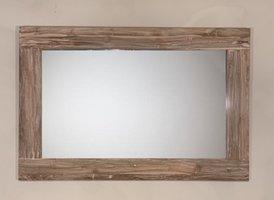 Spiegel 128x85x9cm White Wash - Teak