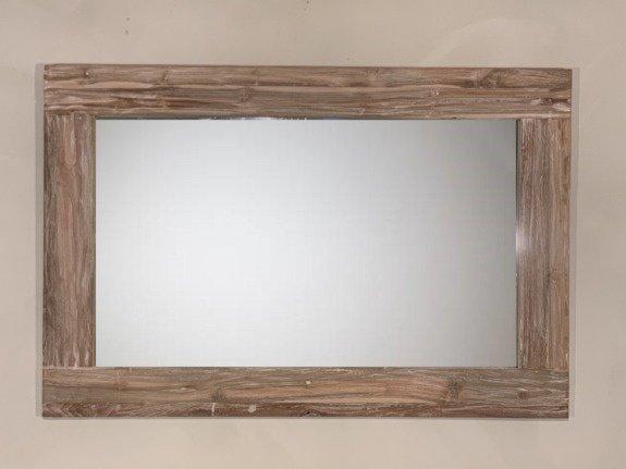 Spiegel 128x85x12cm White Wash - Teak