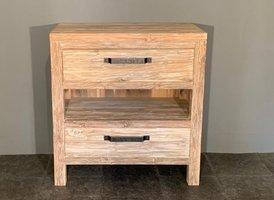 Badkamermeubel hout 80x45x85cm - White wash