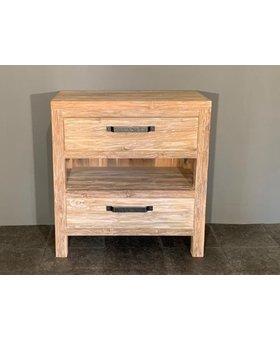 Badkamermeubel hout 60x42x85cm - White wash