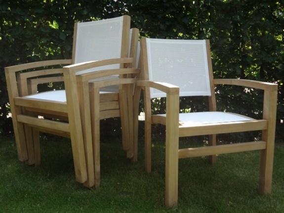 Tuinset Napoli 240cm met 6 stoelen Torino Creme Batyline
