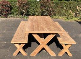 Teak picknicktafel BARI - 100x240cm
