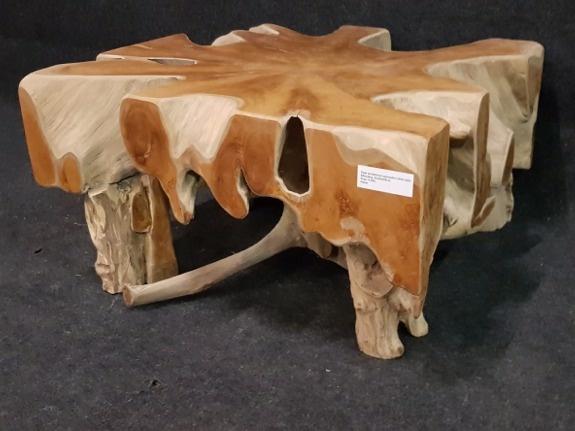 Wortelhout salontafel 80x80x45cm IJ03D-2051