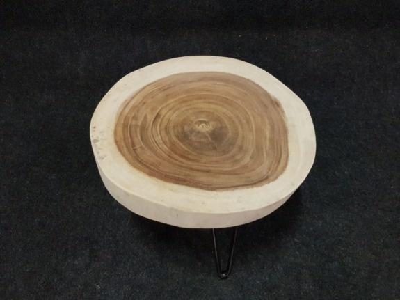 Salontafel op pinpoot +/- Ø50cm - hoogte 43cm