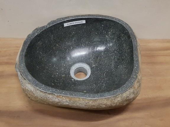 Waskom natuursteen FL20279 - 37x31x15cm