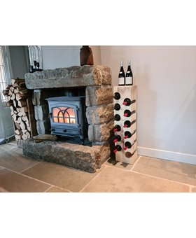 Houten wijnrek voor 12 flessen - rechthoek