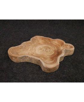 Fruitschaal naturel 40/50cm  - teak hout