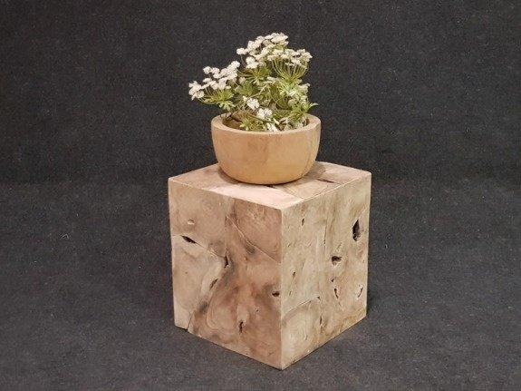 Houten kubus - salontafel 40x40x45cm