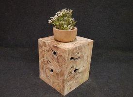 Houten kubus - salontafel 50x50x60cm