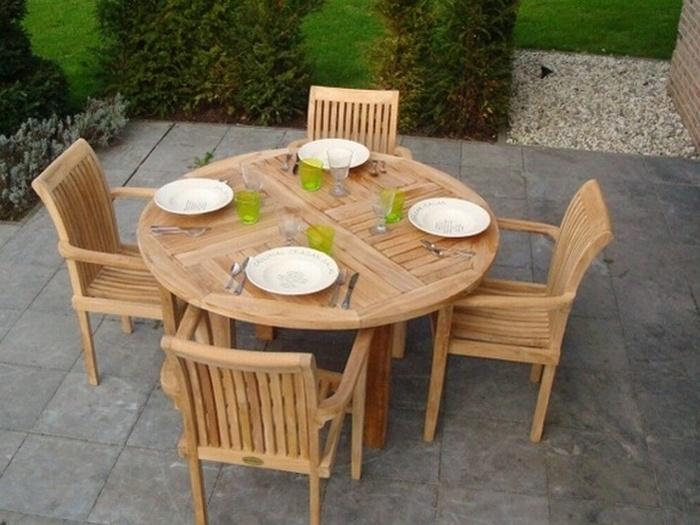 Tuinset Toscane 135 met 4 stapelbare stoelen