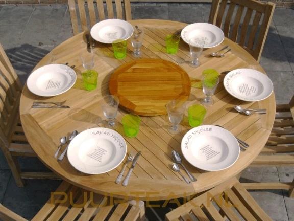 Tuinset Toscane 155 met 6 stapelbare stoelen