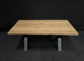 Teak boomstamtafel blad 80x160cm voor binnen